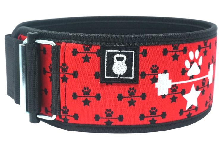 Red Wags & Weights Straight Weightlifting Belt - 2POOD