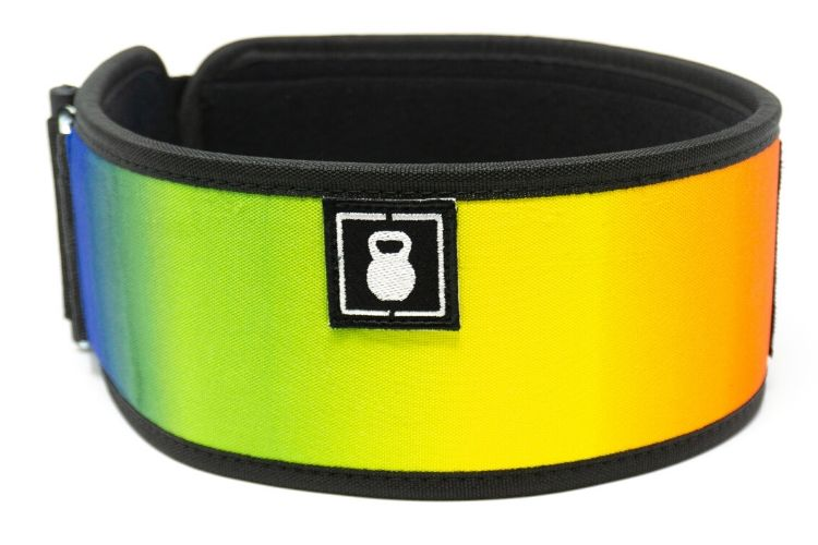 Rainbow Straight Weightlifting Belt