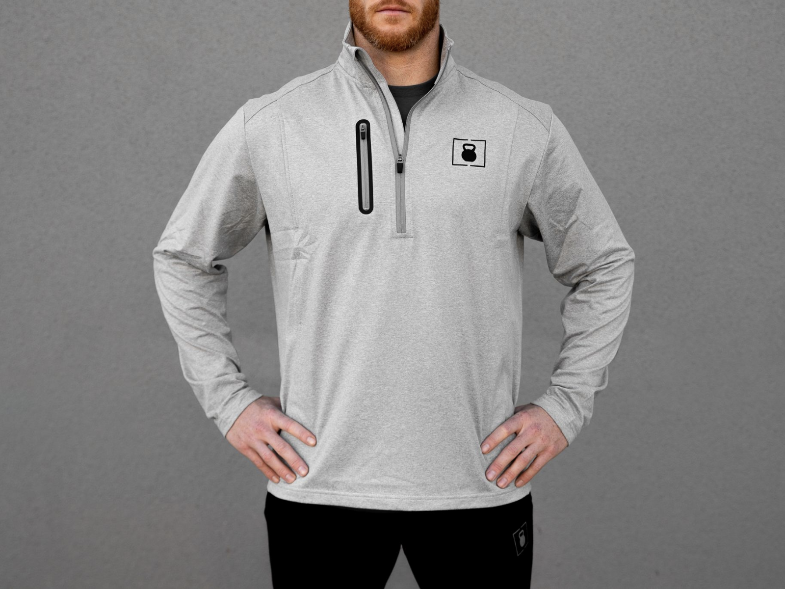 Steel White Performance Half Zip - 2POOD