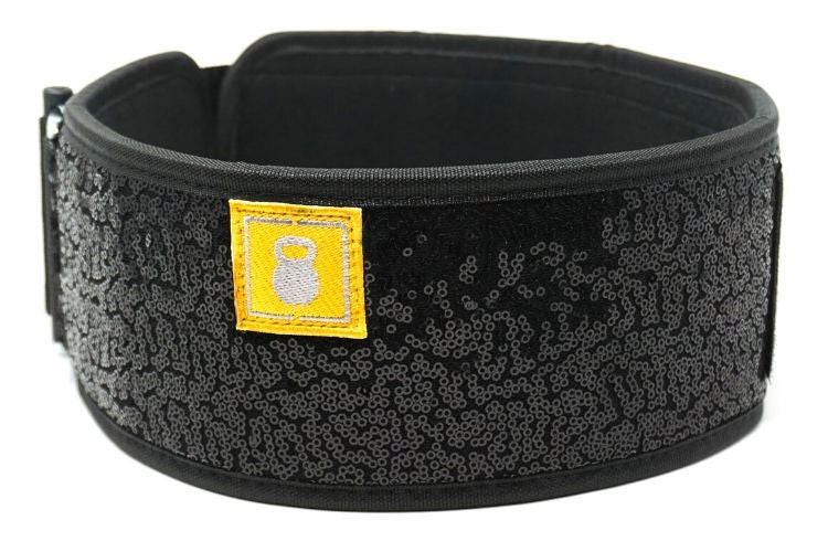 Black Magic (sparkle) Straight Weightlifting Belt - 2POOD