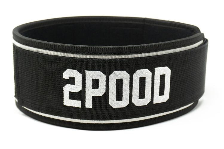 Black Tie Straight Weightlifting Belt - 2POOD