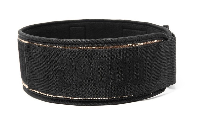 Classy Bling Rose Gold Straight Weightlifting Belt - 2POOD
