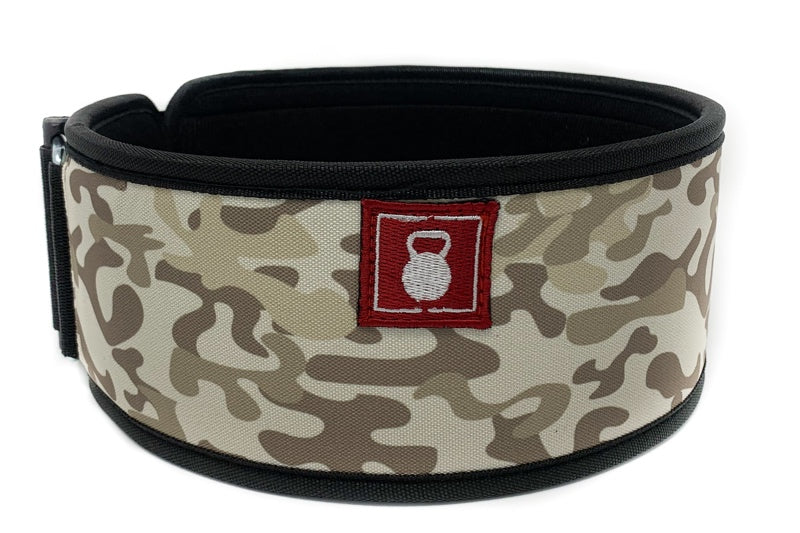 Sandbox Camo Straight Weightlifting Belt