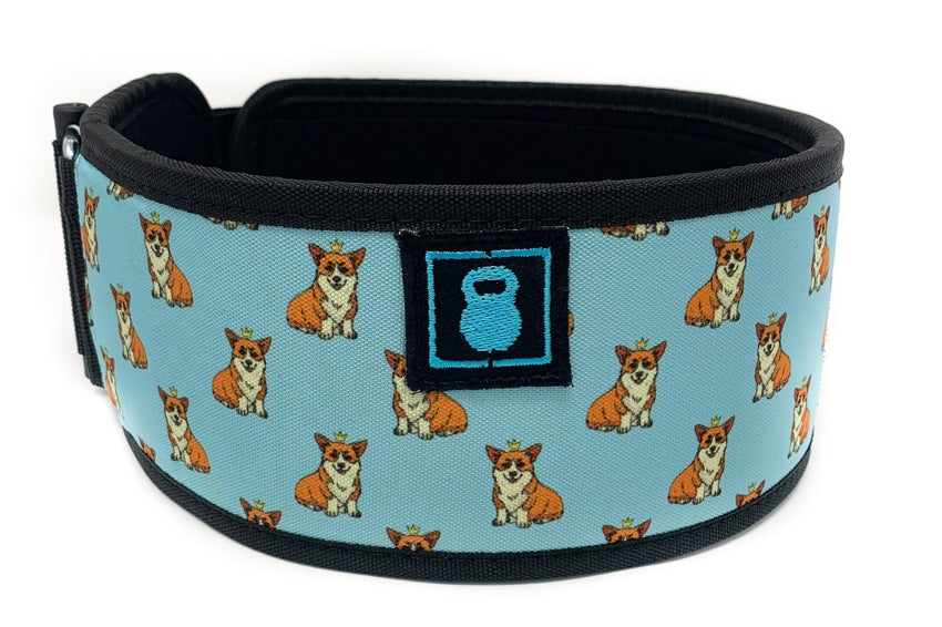 Winston the Corgi Straight Weightlifting Belt