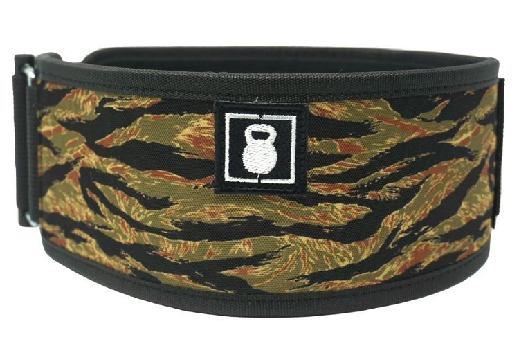 Caffeine & Kilos Tiger Camo Straight Weightlifting Belt - 2POOD