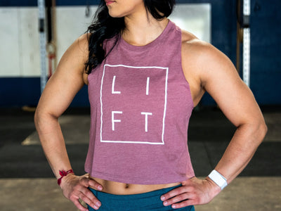 LIFT Collection Mauve Muscle Tank