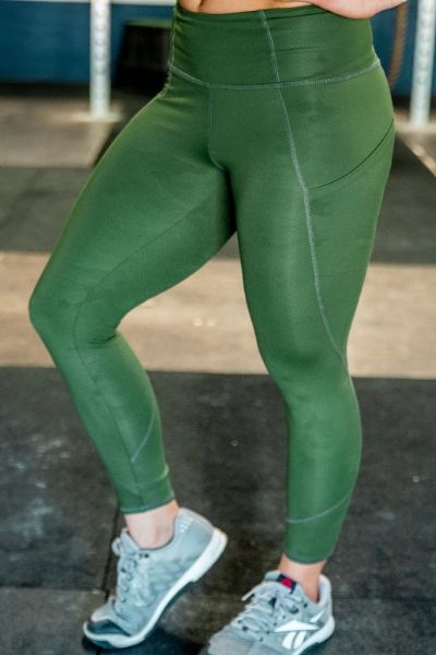 Lift and Lounge Army Green Leggings 23""