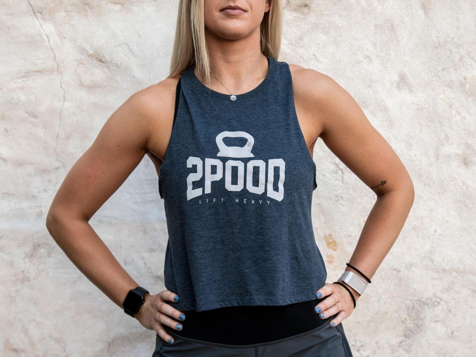 Heathered Navy 2POOD Crop Tank - 2POOD