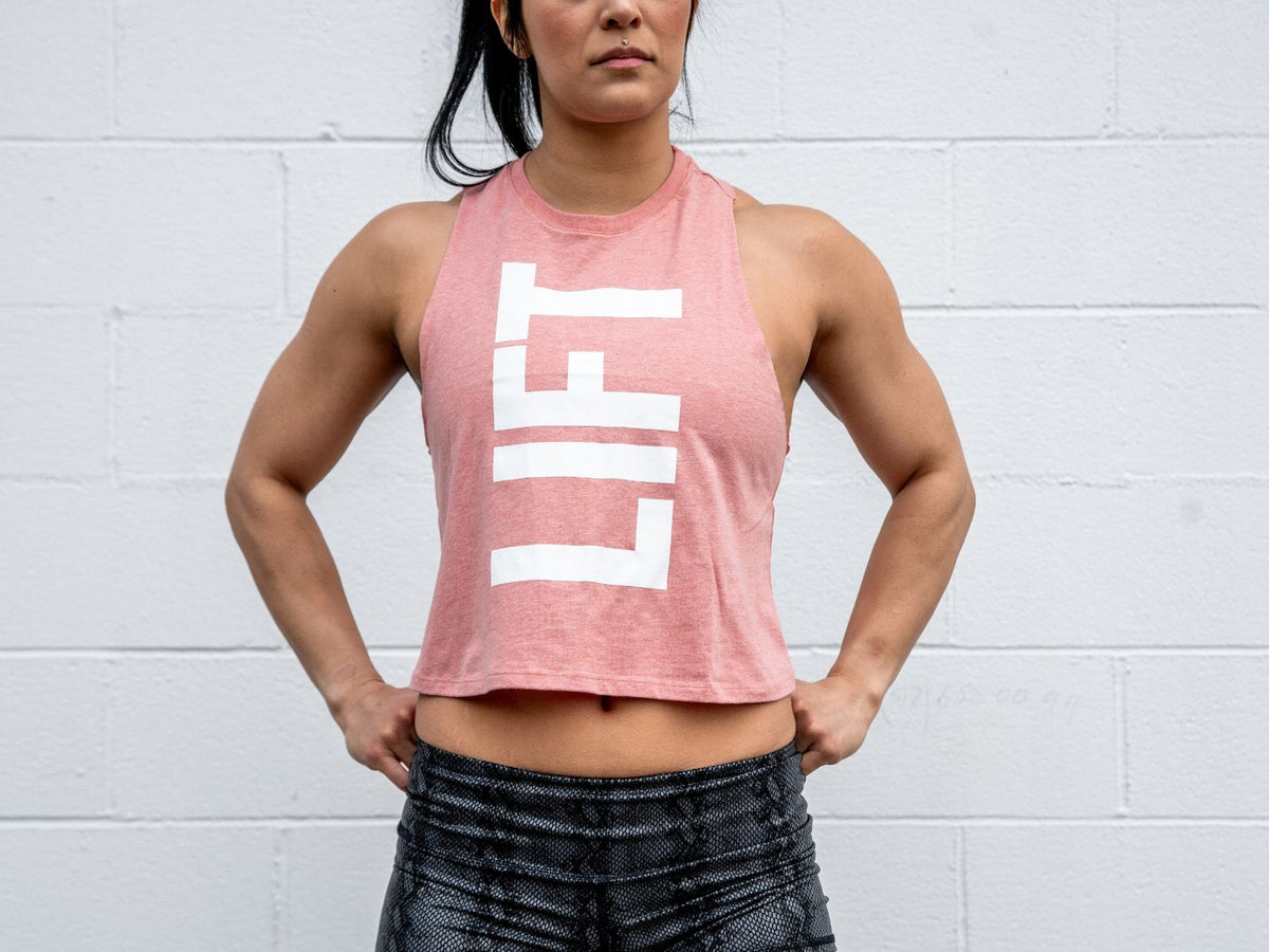 LIFT Collection Heathered Peach Muscle Tank - 2POOD
