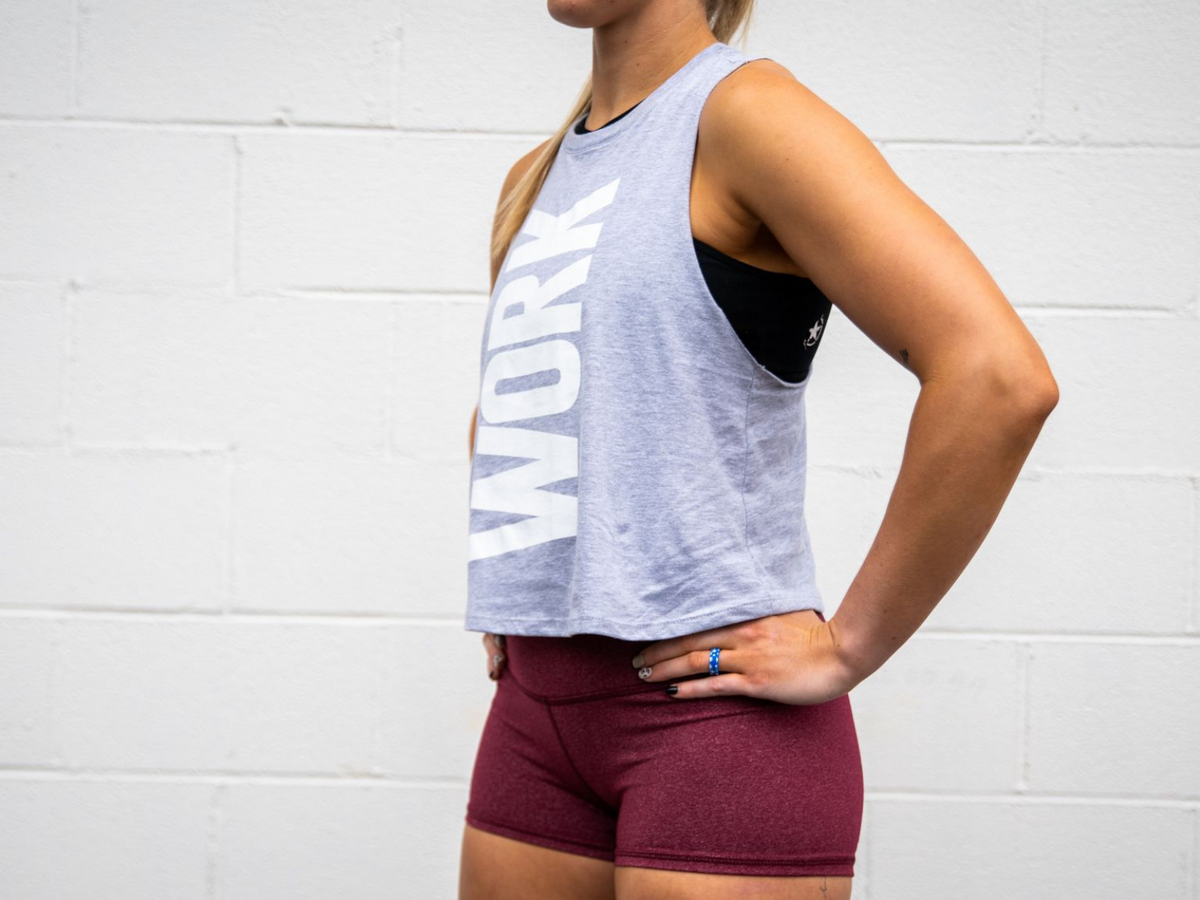 WORK Collection Light Grey Muscle Tank - 2POOD