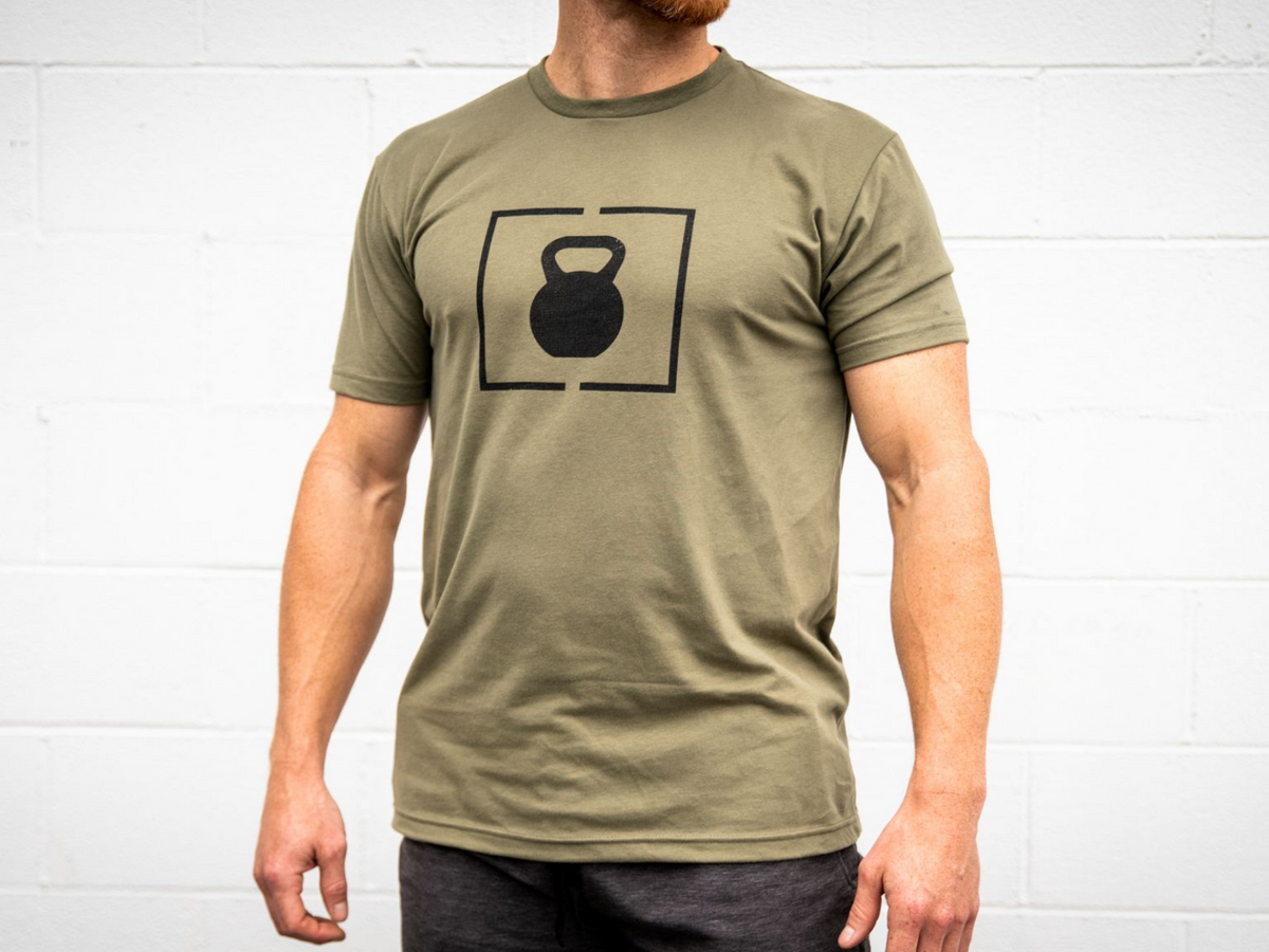 PR Green Kettlebell Patch T-Shirt - 2POOD