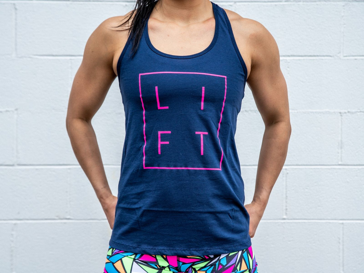 LIFT Collection Navy Blue Racerback Tank - 2POOD