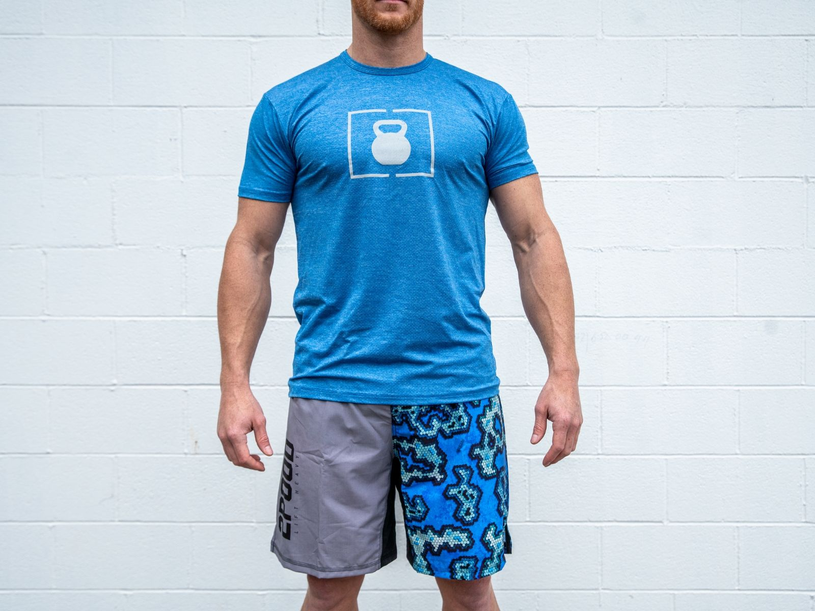 Cool Blue Lift Performance Fitted T-shirt - 2POOD