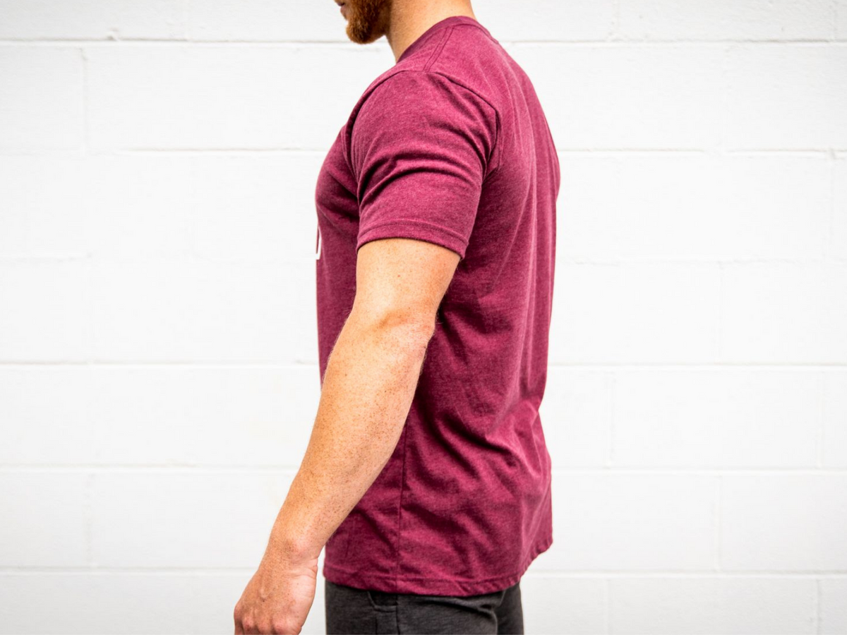 Maroon Kettlebell Patch T-Shirt - 2POOD