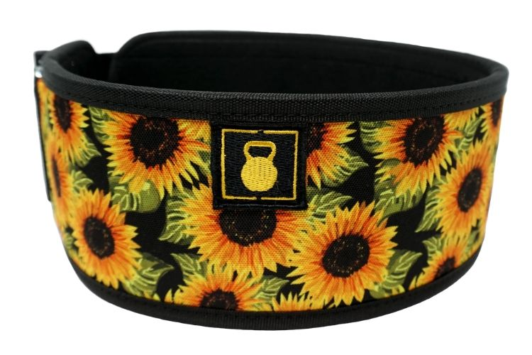 Sunflowers by Tasia Percevecz Straight Weightlifting Belt