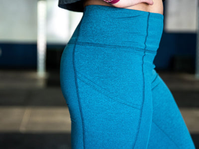 Lift and Lounge Teal Leggings 28""