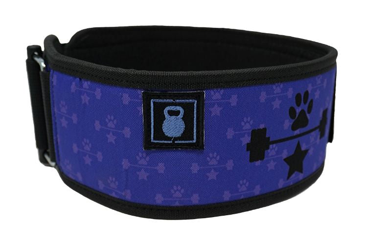 Purple Wags & Weights Straight Weightlifting Belt