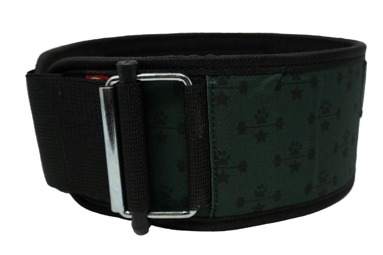 Green Wags & Weights Straight Weightlifting Belt