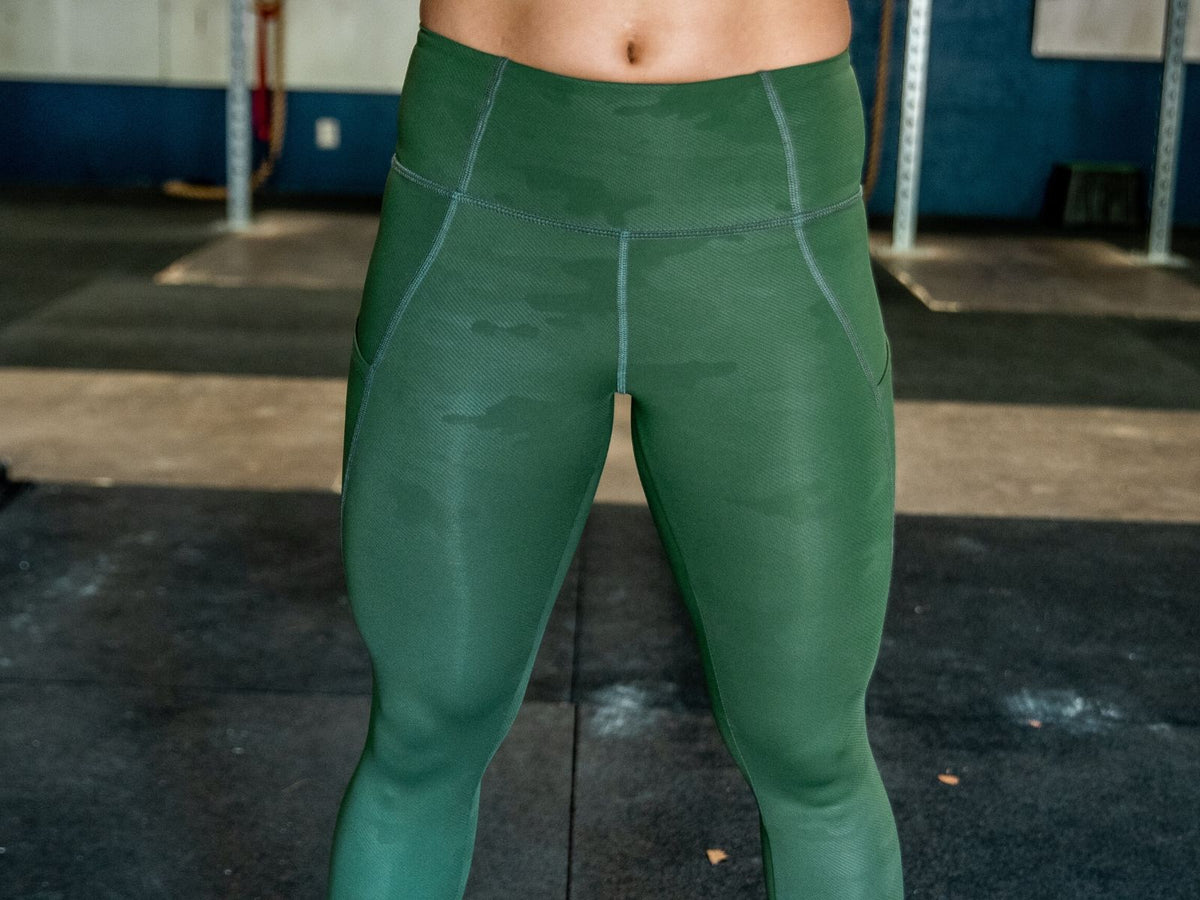 "Lift and Lounge Army Green Leggings 23"" - 2POOD"