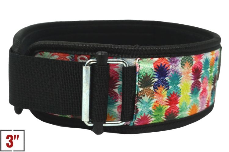 "3"" Petite Pineapple Straight Weightlifting Belt - 2POOD"