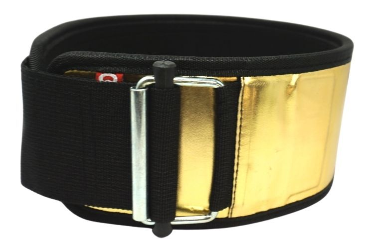 """Going for Gold"" by Mattie Rogers Straight Weightlifting Belt - 2POOD"