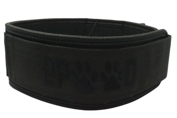 Black on Black Wags & Weights Straight Weightlifting Belt - 2POOD