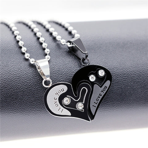 Paired Heart Couples Necklace