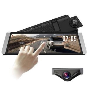 "7.84"" Touch Screen Car DVR Camera Mirror,1080P FHD Front Camera AND Rear - ELECOOL"