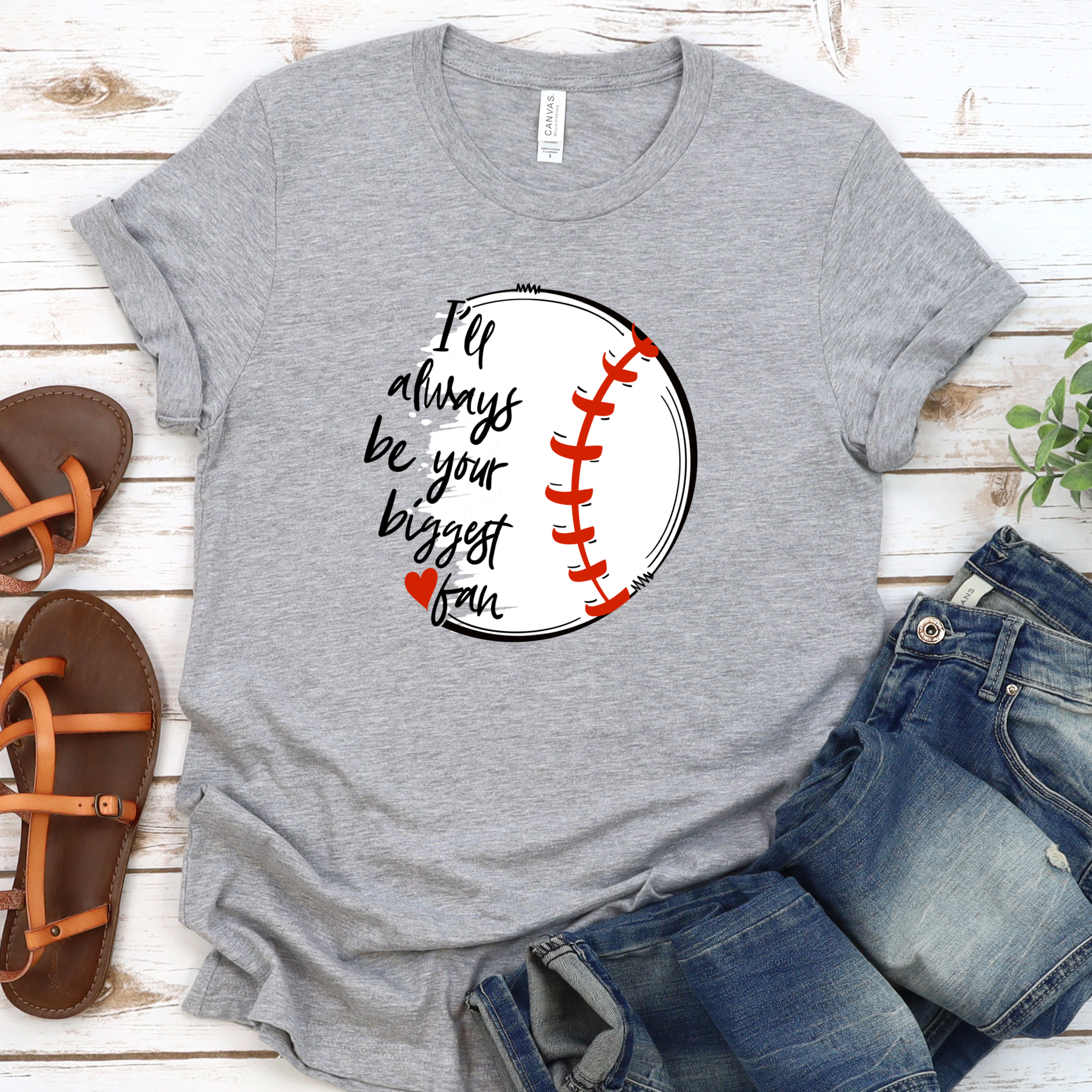 {Biggest Baseball Fan} Soft Crew Neck Tee
