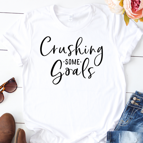 {Crushing Some Goals} Soft Crew Neck Tee