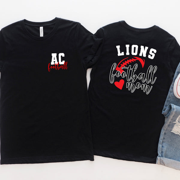 {AC LIONS Football Mom} Soft Style Tee