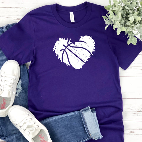 {Scribble Basketball} Soft Crew Neck Tee