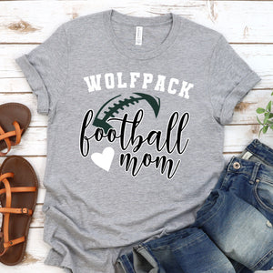 {Wolfpack Football Mom} Soft Style Tee