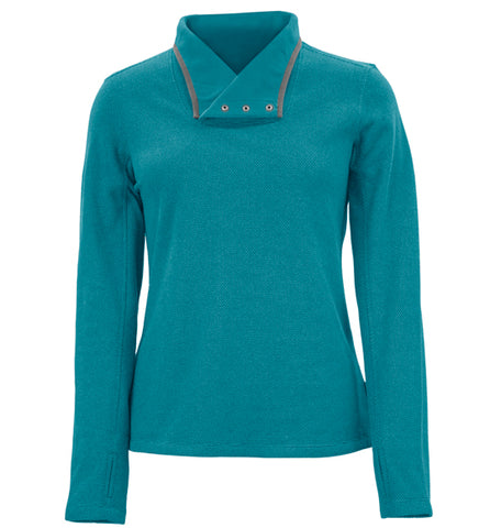 WHITE SIERRA BLACKTAIL FLEECE SNAP-NECK PULLOVER - WOMEN'S