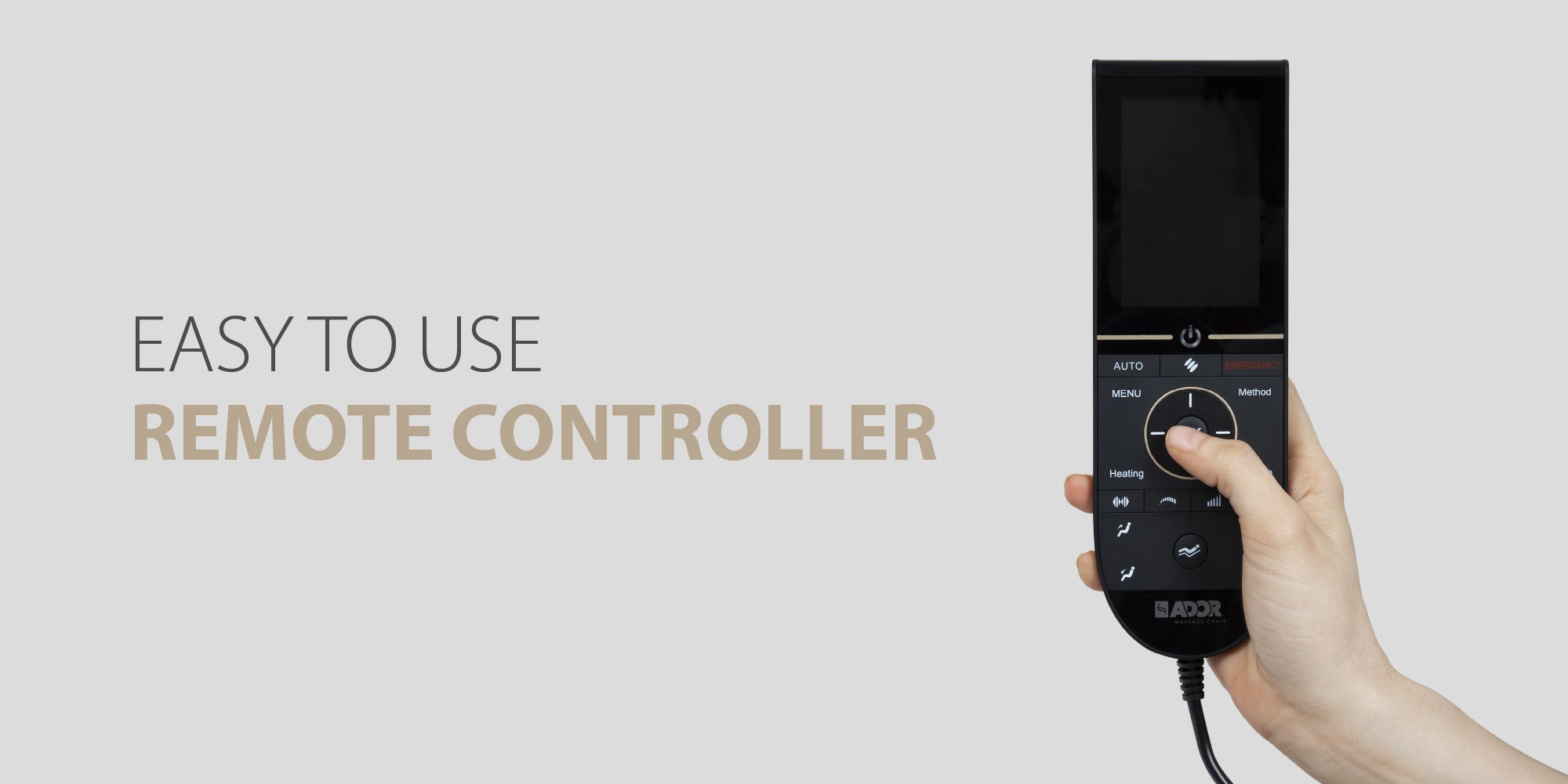 Easy to use Remote controller