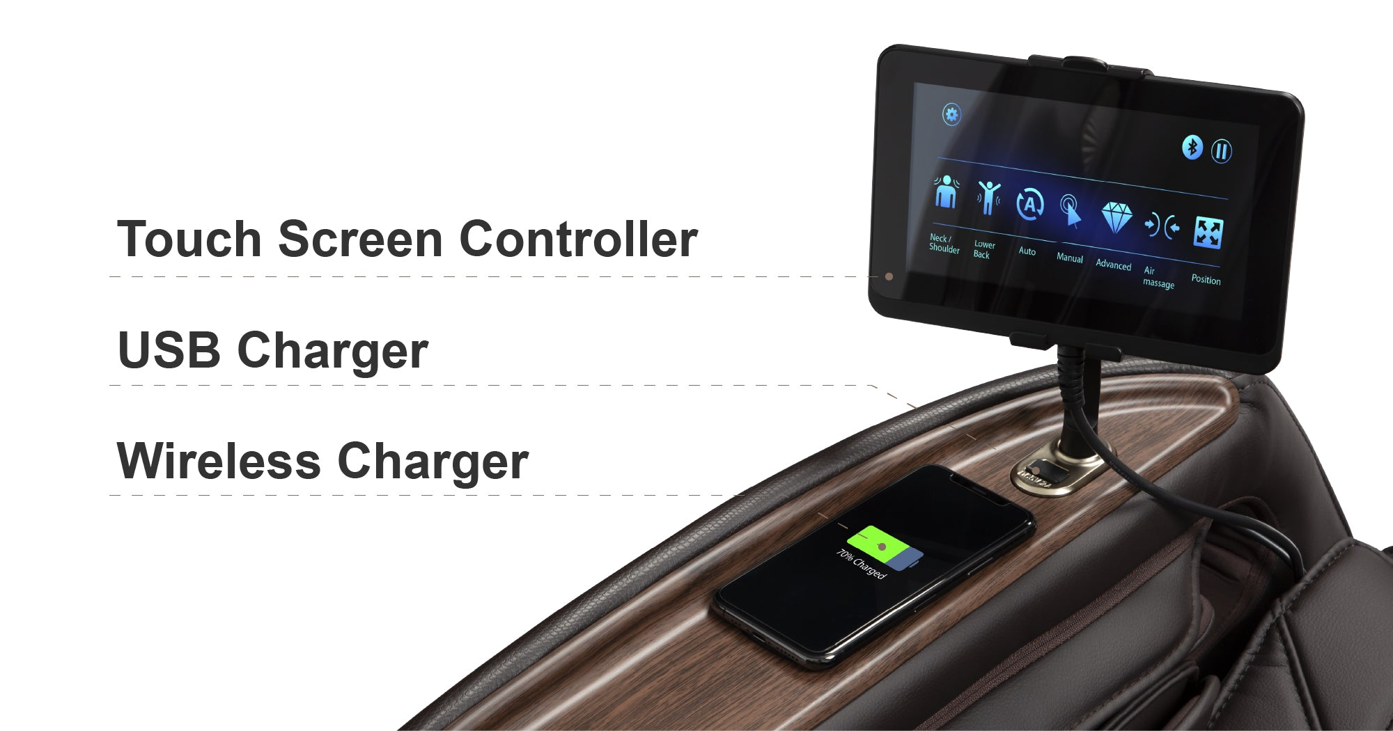 Touch Screen Controller, USB Charger, Wireless Charger