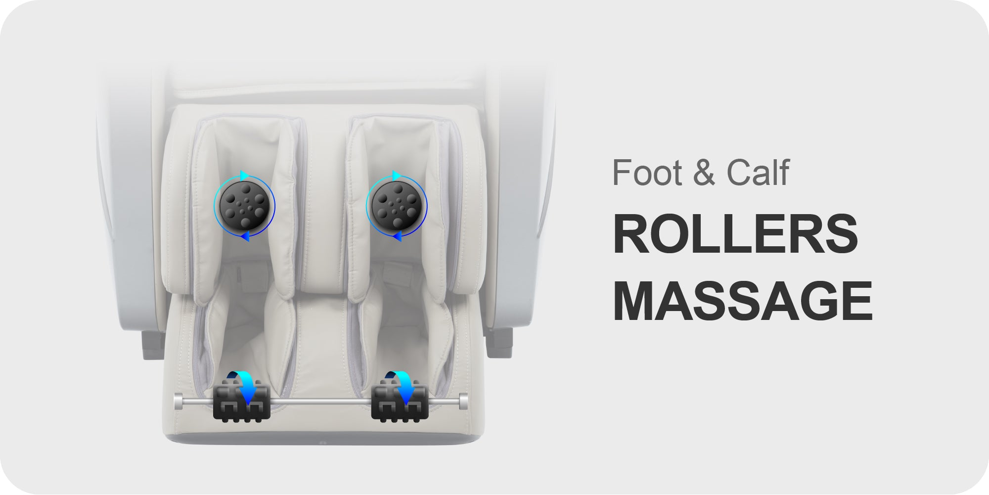Calf and foot rollers