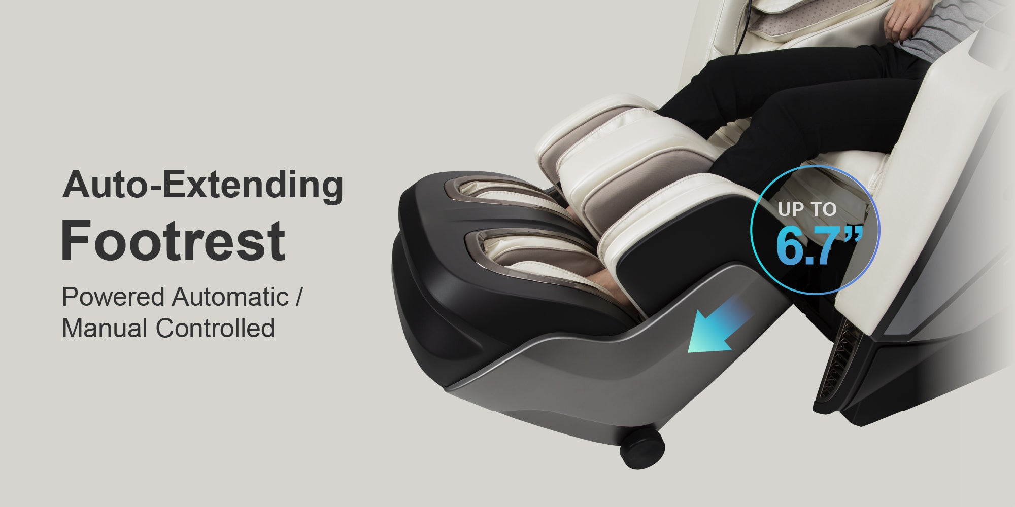 Extendable Footrest - Powered Automatic / Manual controlled