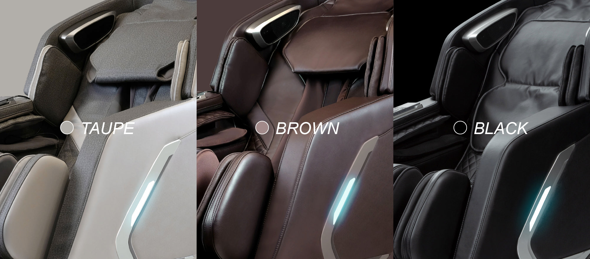 Color: Black, Brown, Taupe