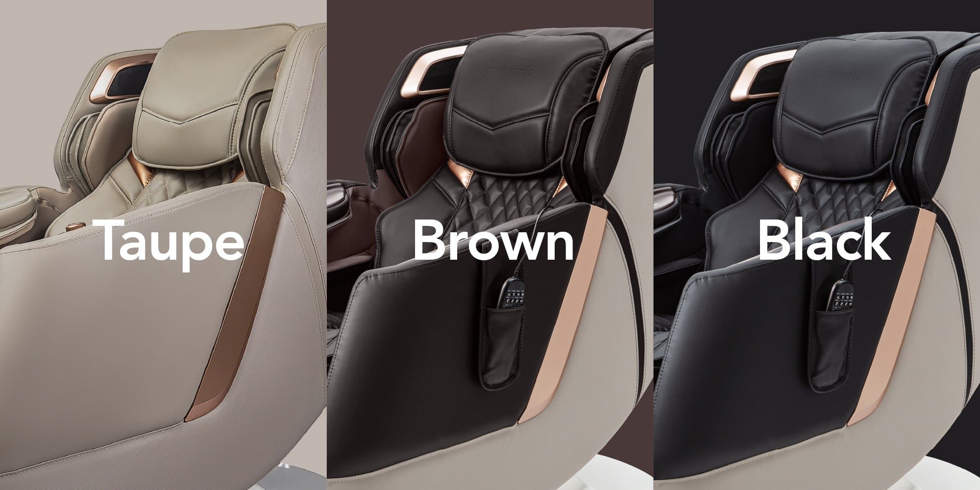 Colors: taupe, brown and black
