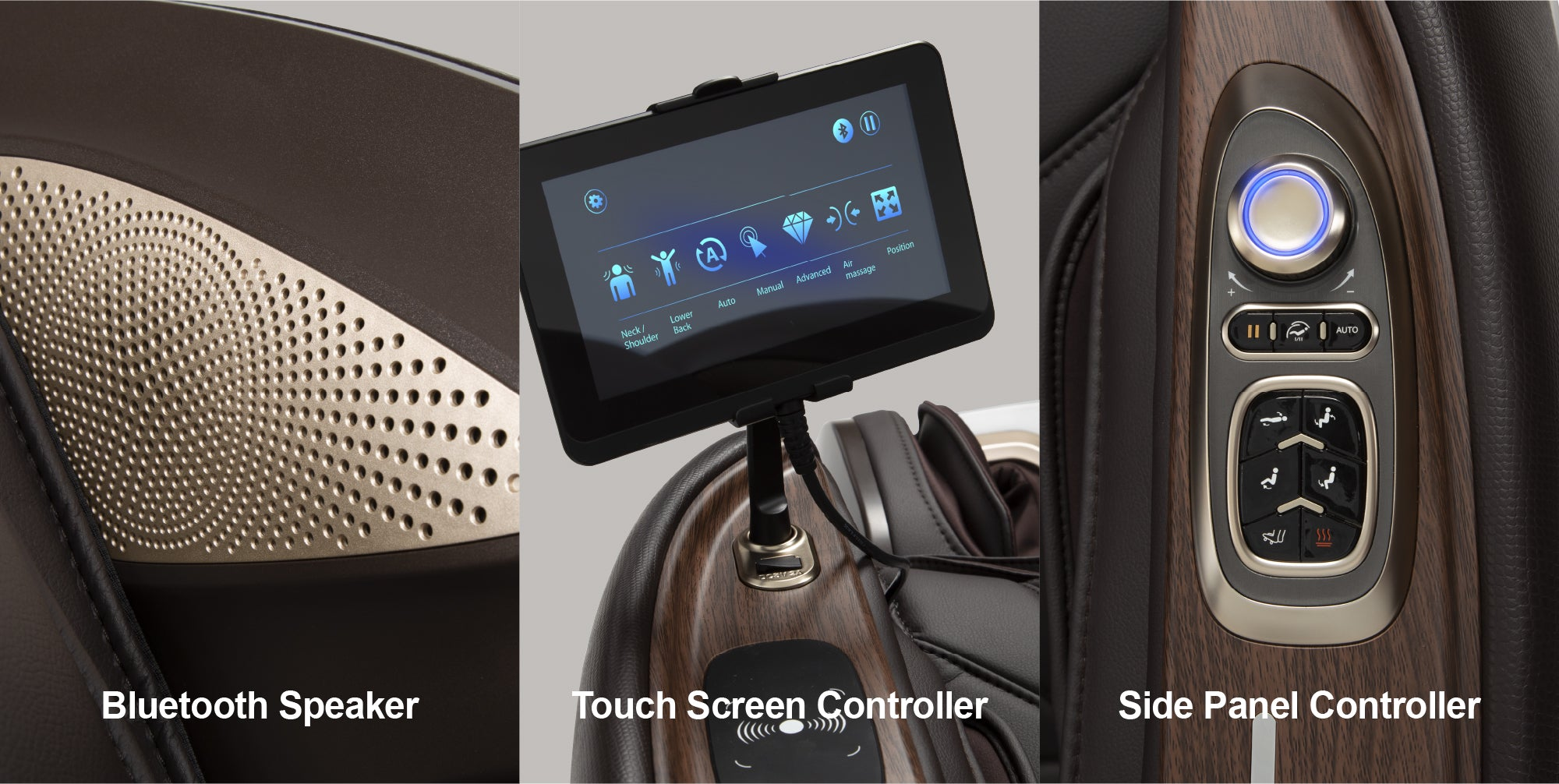 Bluetooth Speaker, Touch Screen Controller, Side Panel Controller