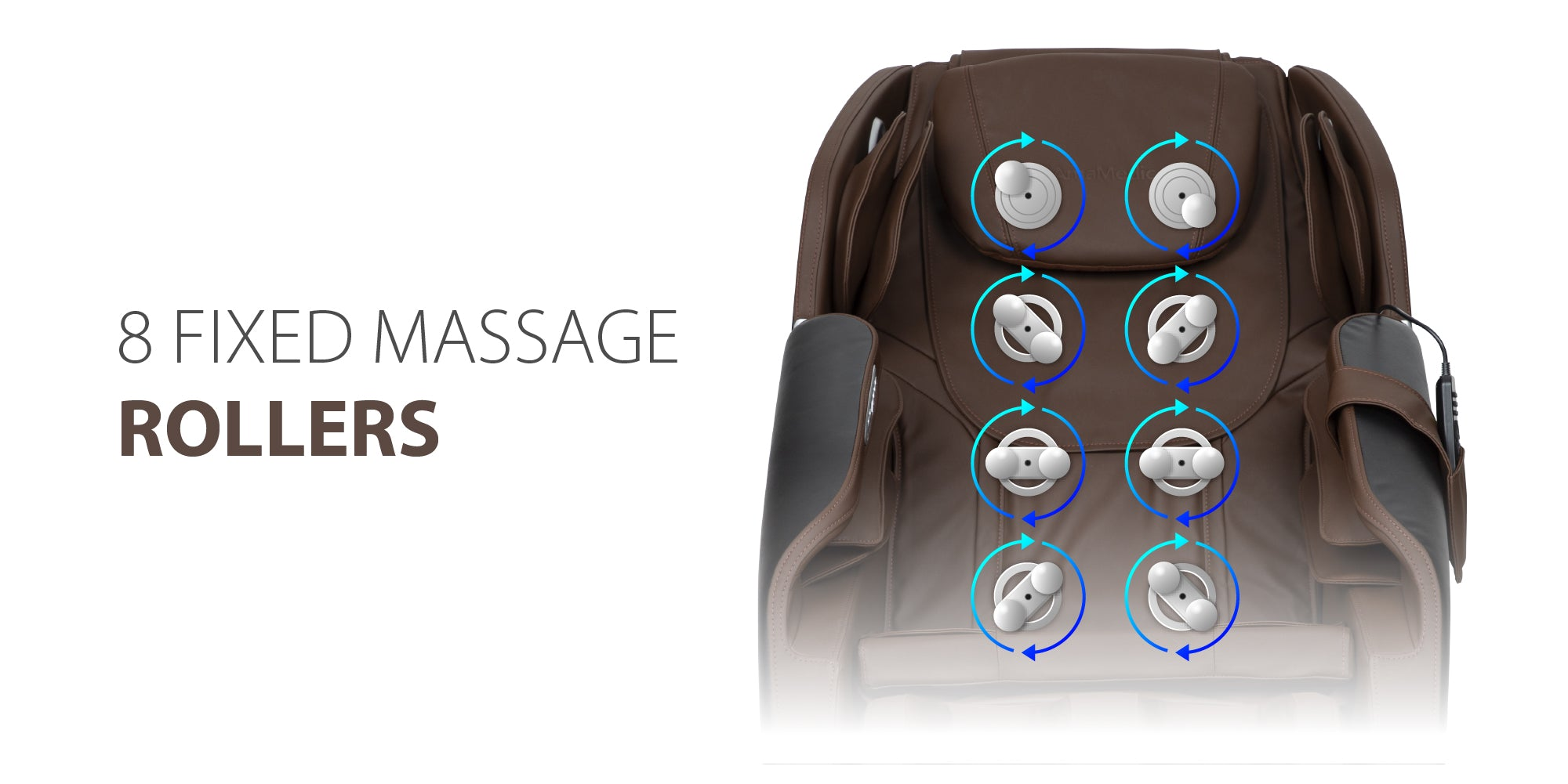 8 Fixed Massage Rollers