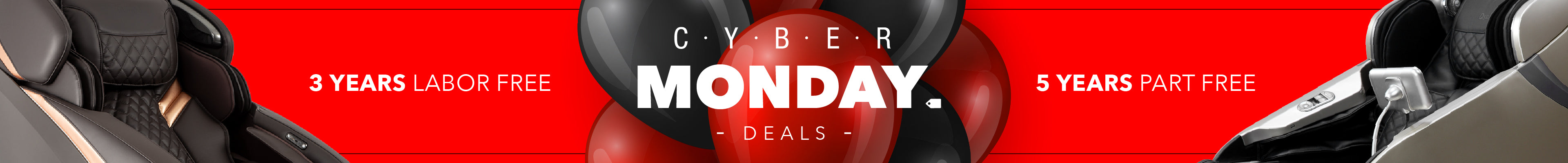 CYBER MONDAY DEALS, 3 years labor free, 5 years part free