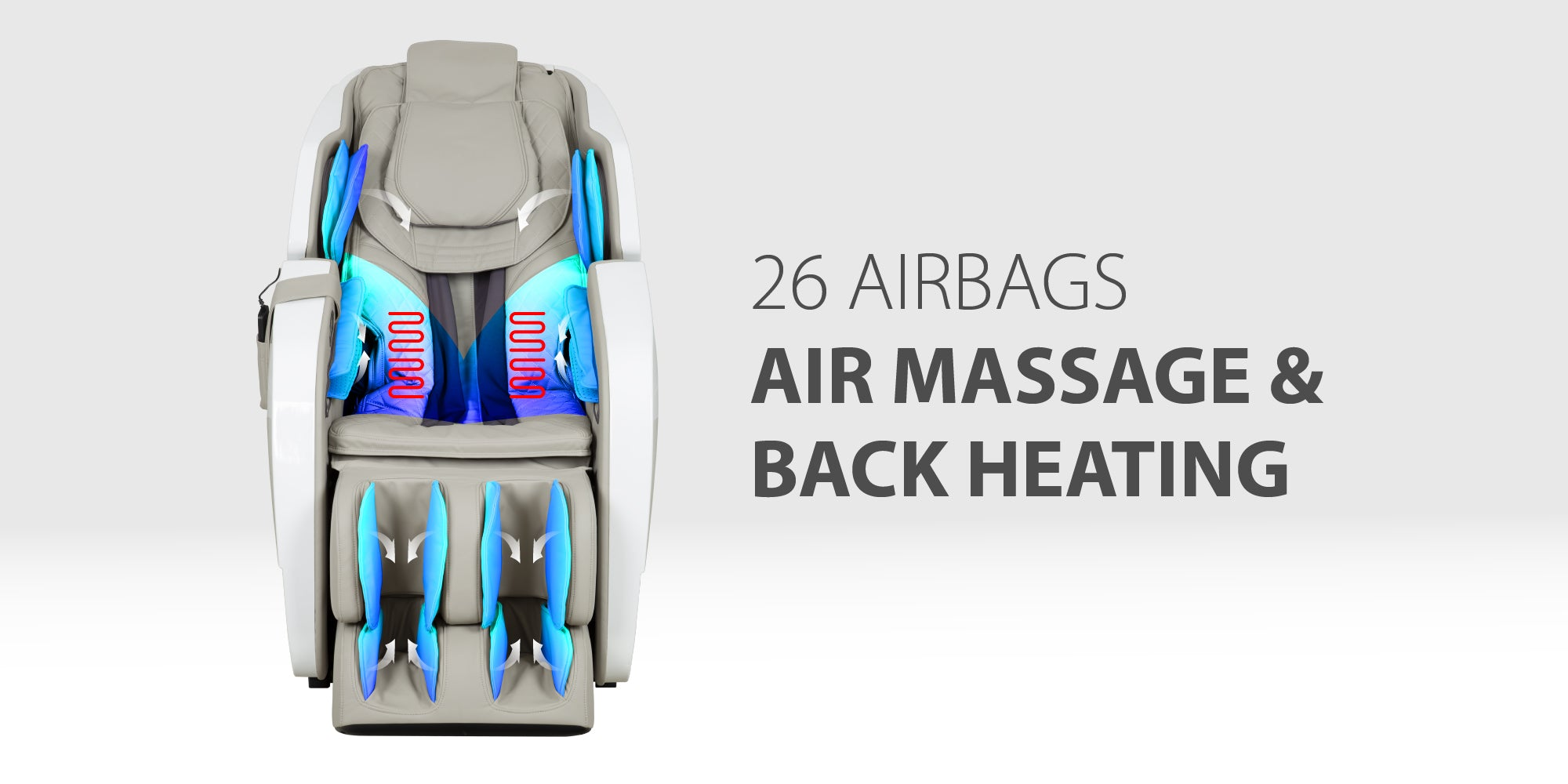 Titan Pro Omega 3D Massage Chair - 26 airbag massage and back heating
