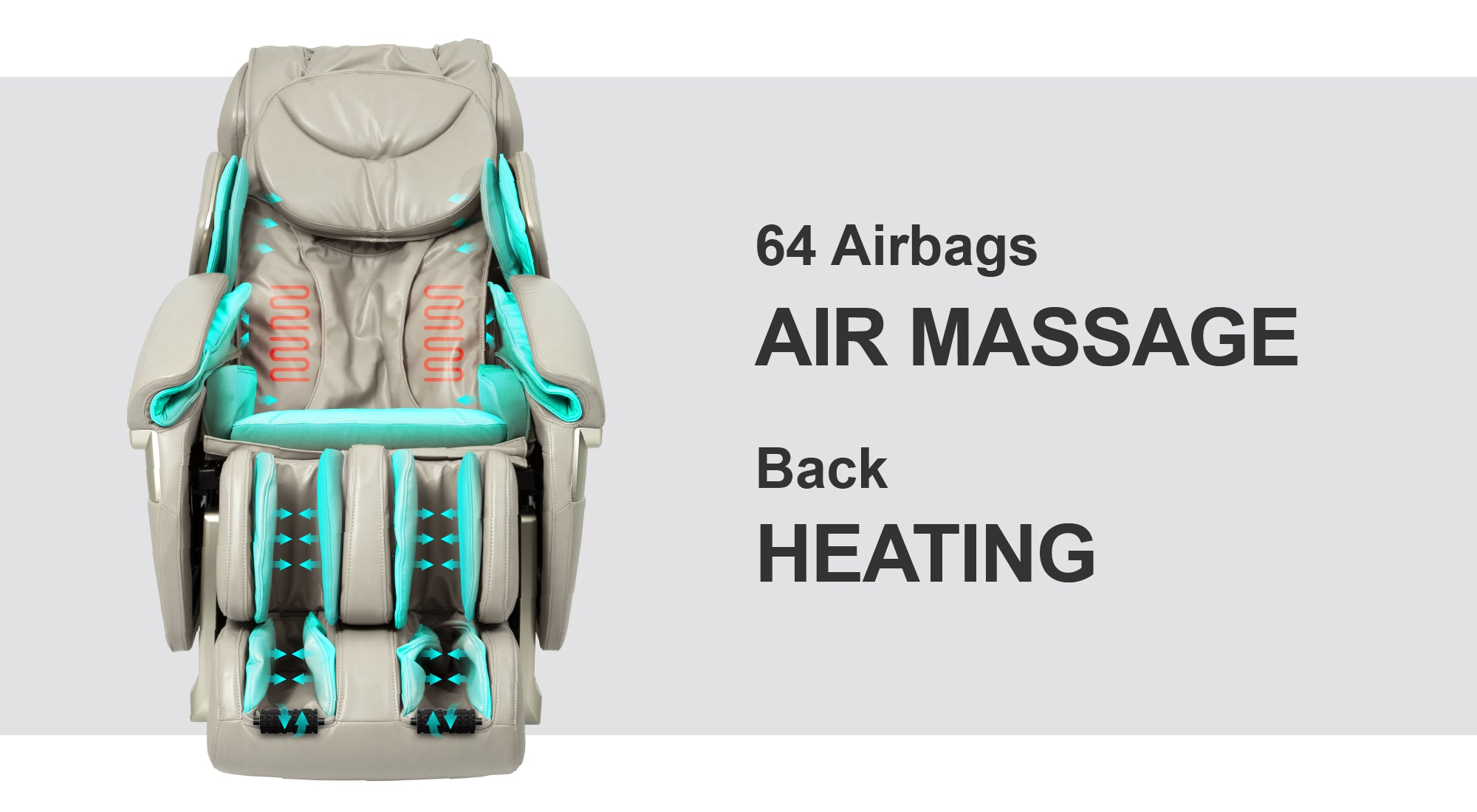 64 Airbags Air Massage, Back Heating