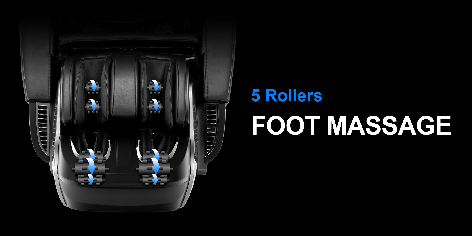 5 Rollers Foot Massage