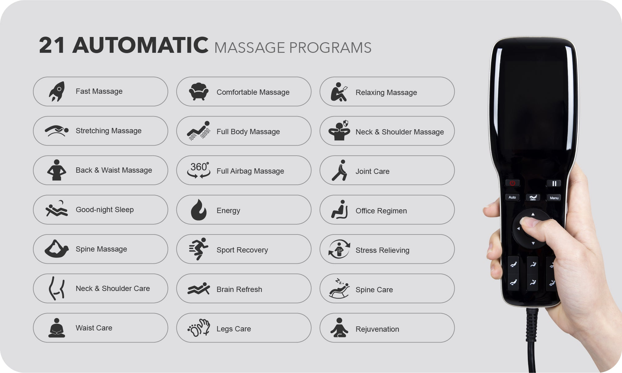 21 auto massage programs