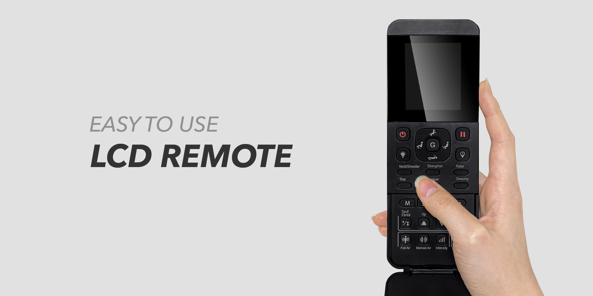 OSAKI OS-4000XT - Easy to Use LCD Remote