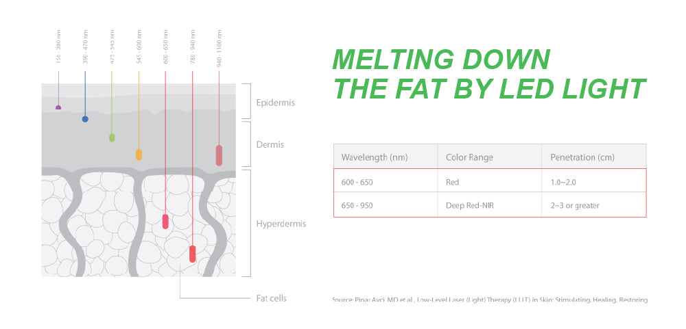 Melting down the fat by LED Light