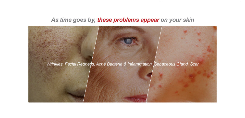 many problems appear on your skin